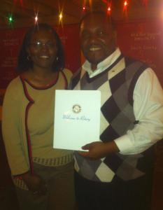 floyd miles and mary miles at rotary club