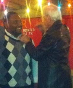 floyd miles & board member peter dunn at rotary club