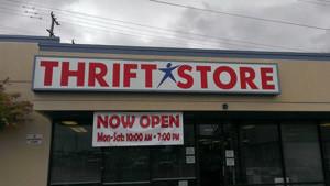 SA Restored Thrift Store sign